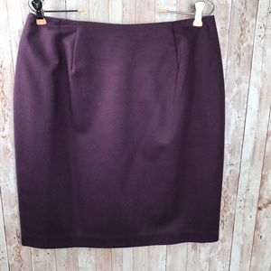 Purple wool pencil skirt sz 14 Fashion Bug
